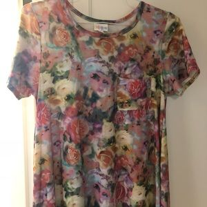 Lularoe Watercolor Pastel Floral Carly Small
